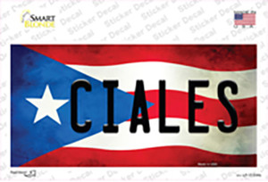 Ciales Puerto Rico Flag Wholesale Novelty Sticker Decal