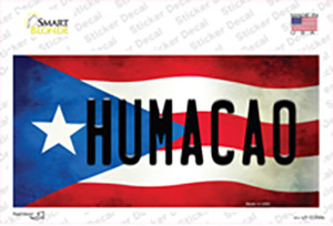 Humacao Puerto Rico Flag Wholesale Novelty Sticker Decal