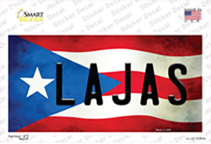 Lajas Puerto Rico Flag Wholesale Novelty Sticker Decal