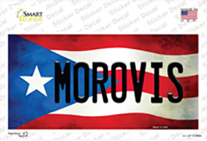 Morovis Puerto Rico Flag Wholesale Novelty Sticker Decal