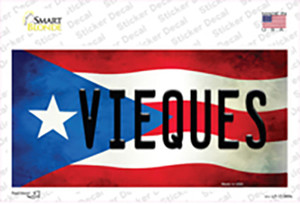 Vieques Puerto Rico Flag Wholesale Novelty Sticker Decal