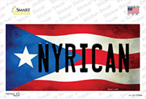 Nyrican Puerto Rico Flag Wholesale Novelty Sticker Decal