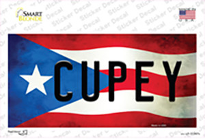 Cupey Puerto Rico Flag Wholesale Novelty Sticker Decal