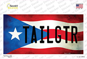 Tailgtr Puerto Rico Flag Wholesale Novelty Sticker Decal