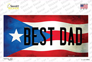 Best Dad Puerto Rico Flag Wholesale Novelty Sticker Decal