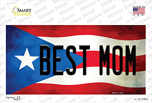 Best Mom Puerto Rico Flag Wholesale Novelty Sticker Decal