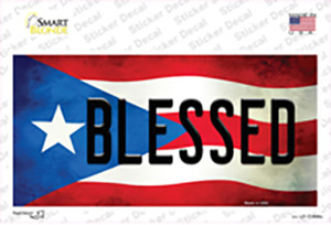Blessed Puerto Rico Flag Wholesale Novelty Sticker Decal