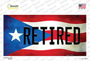 Retired Puerto Rico Flag Wholesale Novelty Sticker Decal