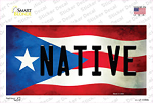 Native Puerto Rico Flag Wholesale Novelty Sticker Decal