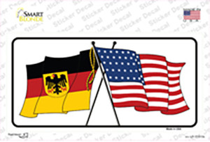 Germany Crossed US Flag Wholesale Novelty Sticker Decal