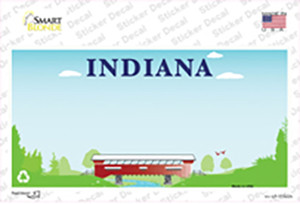 Indiana Recycle State Blank Wholesale Novelty Sticker Decal