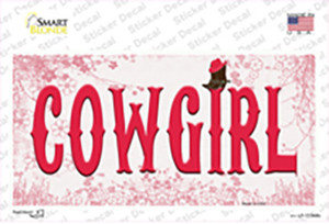 Cowgirl Pink Wholesale Novelty Sticker Decal