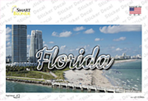 Florida White Sand Beach State Wholesale Novelty Sticker Decal