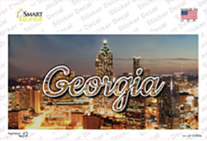 Georgia City Lights State Wholesale Novelty Sticker Decal