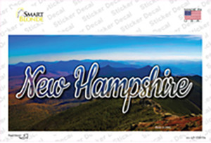 New Hampshire Mountain Range State Wholesale Novelty Sticker Decal