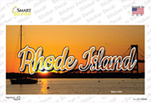 Rhode Island River Sunset State Wholesale Novelty Sticker Decal