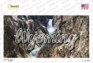 Wyoming Rocky Waterfall State Wholesale Novelty Sticker Decal
