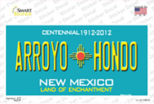 Arroyo Hondo Teal New Mexico Wholesale Novelty Sticker Decal