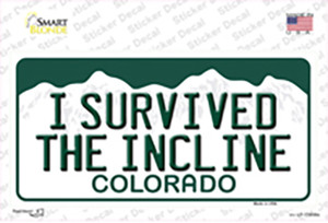 I Survived The Incline Colorado Wholesale Novelty Sticker Decal