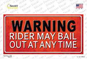 Rider May Bail Wholesale Novelty Sticker Decal