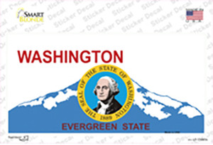Washington Seal And State Wholesale Novelty Sticker Decal