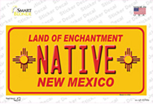 Native New Mexico Yellow State Wholesale Novelty Sticker Decal