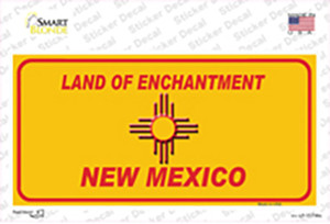 New Mexico Blank Yellow State Wholesale Novelty Sticker Decal