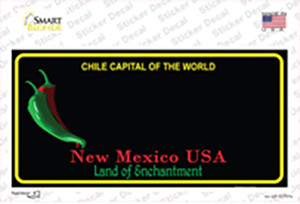New Mexico Blank Black State Wholesale Novelty Sticker Decal