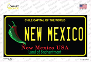 New Mexico Black State Wholesale Novelty Sticker Decal
