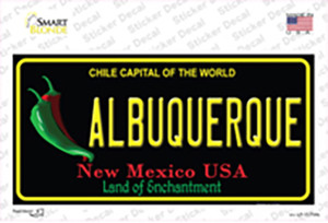 Albuquerque New Mexico Black State Wholesale Novelty Sticker Decal