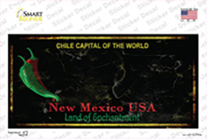 New Mexico Black Blank Rusty State Wholesale Novelty Sticker Decal