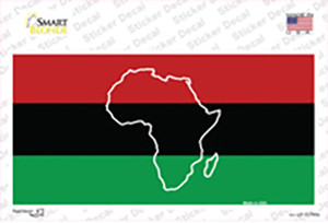 Africa Outline With Flag Wholesale Novelty Sticker Decal