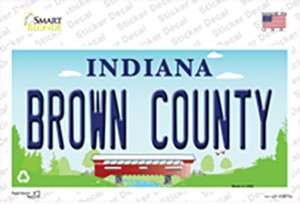 Brown County Indiana Wholesale Novelty Sticker Decal