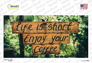 Enjoy Your Coffee Wholesale Novelty Sticker Decal