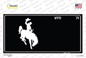 Wyoming Black Wholesale Novelty Sticker Decal