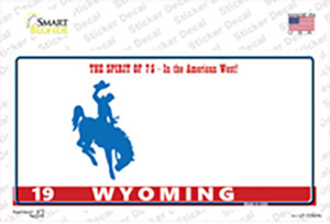 Wyoming Background Wholesale Novelty Sticker Decal