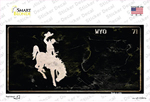 Wyoming Black Rusty Wholesale Novelty Sticker Decal