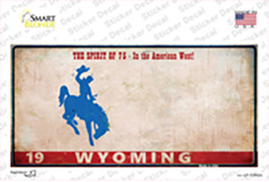 Wyoming Rusty Wholesale Novelty Sticker Decal