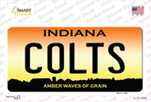 Indiana Colts Wholesale Novelty Sticker Decal