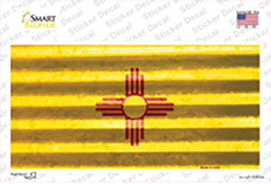 New Mexico Corrugated Flag Wholesale Novelty Sticker Decal