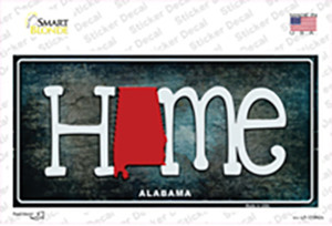 Alabama Home State Outline Wholesale Novelty Sticker Decal