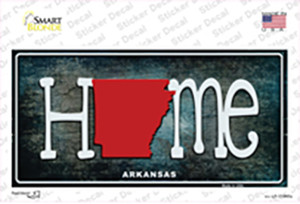 Arkansas Home State Outline Wholesale Novelty Sticker Decal