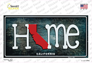 California Home State Outline Wholesale Novelty Sticker Decal