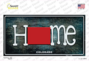 Colorado Home State Outline Wholesale Novelty Sticker Decal