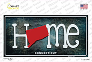 Connecticut Home State Outline Wholesale Novelty Sticker Decal