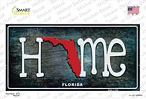 Florida Home State Outline Wholesale Novelty Sticker Decal
