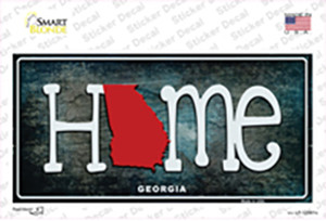Georgia Home State Outline Wholesale Novelty Sticker Decal