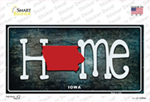 Iowa Home State Outline Wholesale Novelty Sticker Decal