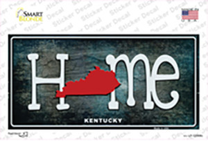 Kentucky Home State Outline Wholesale Novelty Sticker Decal