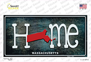 Massachusetts Home State Outline Wholesale Novelty Sticker Decal